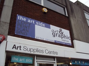 The Art Side 42 Mayflower St  Plymouth PL1 1QX Tel: 01752 269499